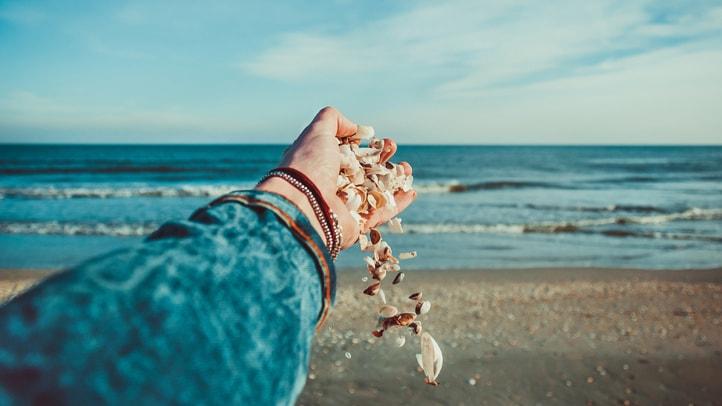 Złota jesień nad morzem